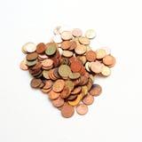 Pinkglod monety obraz royalty free