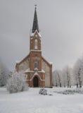 Pinki Church i vinter Arkivfoto