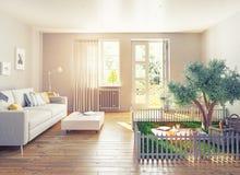 Pinkin w domowym wnętrzu Fotografia Stock