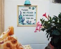 Pinkinu znak Obraz Royalty Free