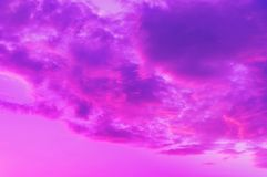 Pinkish-blue clouds stock photography