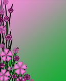 Pinkish Purple and Green Floral Stationery Background Wallpaper Stock Photo