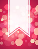 Pinkish red bokeh blank banner background Royalty Free Stock Images