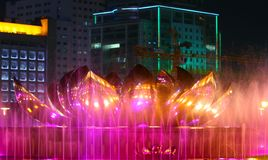 Pinkish red fountain Royalty Free Stock Photo