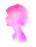 Pinkish woman digital art Royalty Free Stock Photos