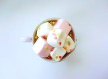 Pinkkoffie Stock Foto's