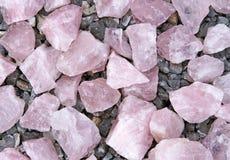 Pinkquartz and grey granite Royalty Free Stock Image