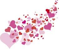 Pinks hartpatroon royalty-vrije illustratie