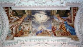 Pinksteren, Afdaling van de Heilige Geest stock afbeeldingen