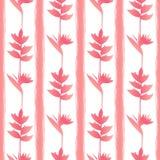 PinkTropic blommar den sömlösa modellen Arkivfoton