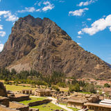 Pinkuylluna, archeological site at Ollantaytambo Stock Images