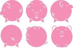 Pinky набор иллюстрации мультфильма свиньи бесплатная иллюстрация