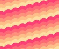Pinky оранжевая винтажная картина волны Стоковое фото RF