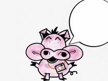 Pinky путешествовать свиньи Стоковая Фотография
