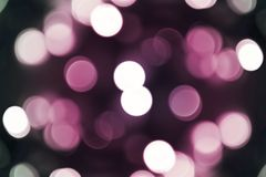 Pinky Bokeh. Background. Cool Out of Focus Christmas Lights. Dark Pink Background Stock Image