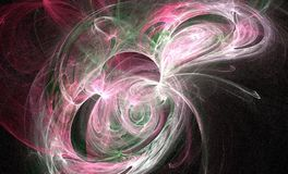 Pinky cosmo swirls. Computer generated cosmo landscape Stock Photo