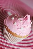 Pinky cupcake Stock Photography