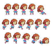 Pinky Girl Game Sprites Royalty Free Stock Photos