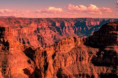 Pinky Grand Canyon op zonsondergang royalty-vrije stock foto