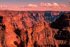 Pinky Grand Canyon på solnedgång royaltyfri foto