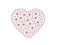 Pinky heart flower Royalty Free Stock Photography