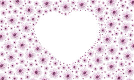 Pinky heart flower Royalty Free Stock Photo