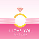 Pinky Heart Greeting Card Vector Royalty Free Stock Photo