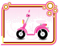 Pinky illustration motorbike Royalty Free Stock Photos