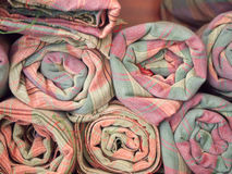Pinky local woven fabric products , Thailand. Stock Images