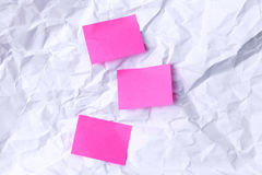 Pinky notes Stock Image