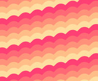 Pinky Orange Vintage Wave Pattern Royalty-vrije Stock Foto