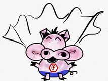 Pinky pig talking in Super Pig Stock Photos