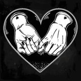 Pinky promise, hand holding. Trendy vector art Stock Images