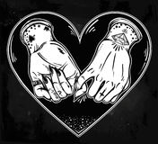 Pinky promise, hand holding. Trendy vector art Royalty Free Stock Images