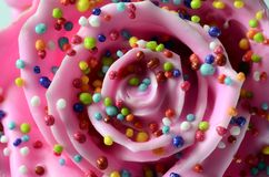 Pinky rose flower, imitation candy Stock Photo