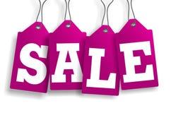 Pinky sprzedaży etykietki Zdjęcia Royalty Free