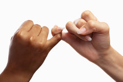 Pinky swear stock images