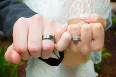 Pinky Swear Wedding Ring Hands Royalty Free Stock Photo