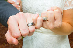 Pinky Swear Wedding Ring Hands Stock Image
