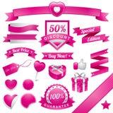 Pinky Web Elements Imágenes de archivo libres de regalías