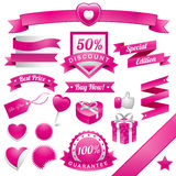 Pinky Web Elements. Ribbon and badge. EPS 10 File and Hi-Res jpg included Royalty Free Stock Images