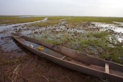 Pinnace in the delta of Niger in Mopti Stock Photos
