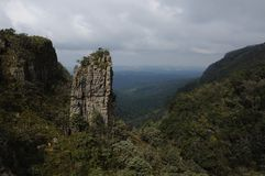 The Pinnacle. Is a big granite pillar on the panorama route through the Blyde River Canyon Stock Photo