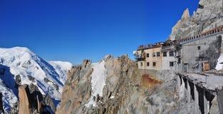 Pinnacle at Aiguille du Midi royalty free stock photos