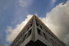 The Pinnacle of building reaching the sky Royalty Free Stock Photo