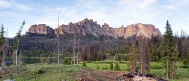 Pinnacle Buttes Togwotee Pass Wyoming Washakie Wilderness. Pinnacle Buttes in the Washakie Wilderness Wyoming Royalty Free Stock Photos