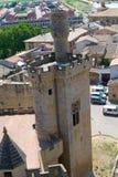 Pinnacle of the corner tower in Olite Royalty Free Stock Image
