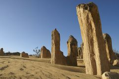 Pinnacle desert, Nambung NP, Western Australia Royalty Free Stock Photography