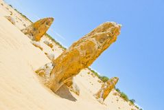 Pinnacle Desert at Nambung NP Western Australia Royalty Free Stock Photos