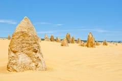 Pinnacle Desert at Nambung NP Western Australia Royalty Free Stock Images